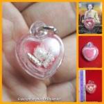 X1 THAI AMULET HAU JAI MINI HEART LOVE ATTRACTION RED WAXY AJAN O 2556