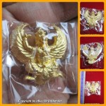 X1 THAI AMULET GARUDA KRUT KING OF BIRD GOLD COLOR PLATED BIG LP KEY 2556