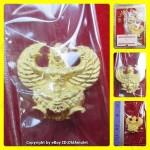 X1 THAI AMULET GARUDA KRUT KING OF BIRD GOLD COLOR PLATED SMALL LP KEY 2556