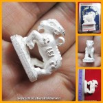 X1 THAI AMULET GOAT HOLY LIFE PROTECTION PANDENT SILVER PLATED LP KEY 2556